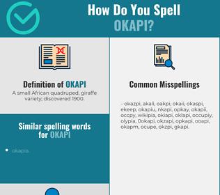 Correct spelling for okapi