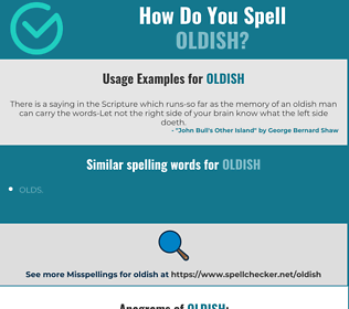 Correct spelling for oldish