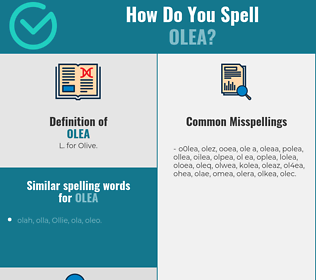 Correct spelling for olea