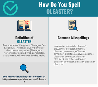 Correct spelling for oleaster