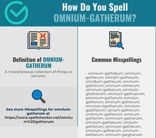 Correct spelling for omnium-gatherum