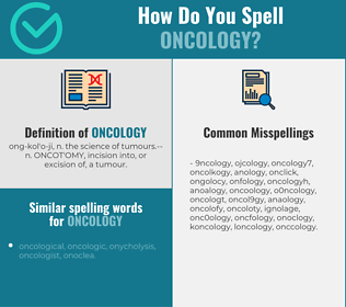 Correct spelling for oncology
