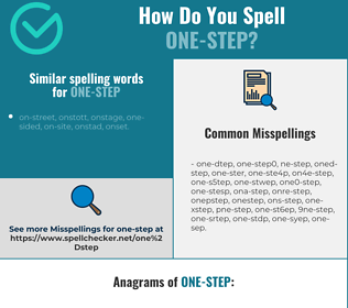 Correct spelling for one-step