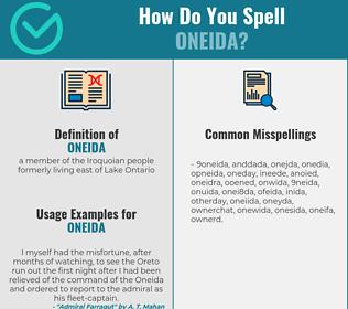 Correct spelling for oneida