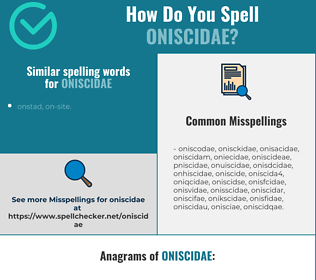 Correct spelling for oniscidae