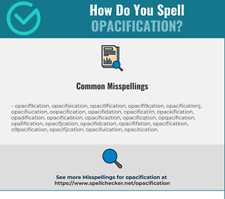 Correct spelling for opacification