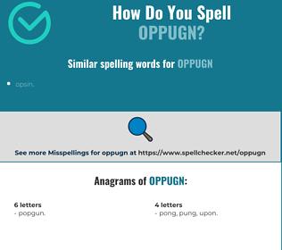 Correct spelling for oppugn