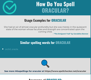 Correct spelling for oracular