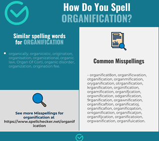 Correct spelling for organification