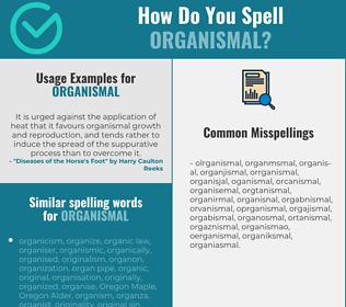 Correct spelling for organismal