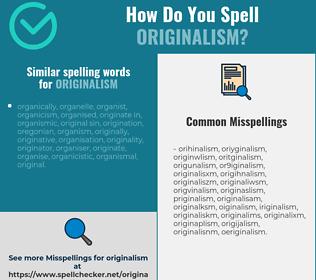 Correct spelling for originalism