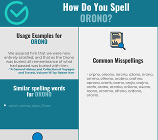 Correct spelling for orono