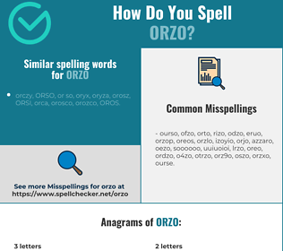 Correct spelling for orzo
