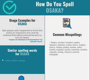 Correct spelling for osaka
