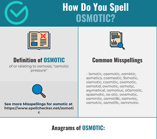Correct spelling for osmotic