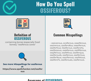 Correct spelling for ossiferous