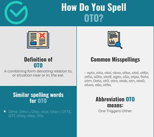 Correct spelling for oto