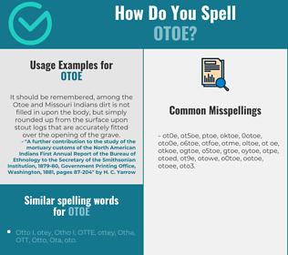 Correct spelling for otoe