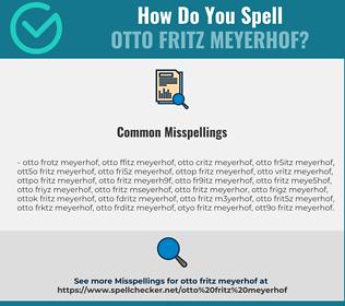 Correct spelling for Otto Fritz Meyerhof