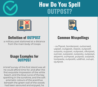 Correct spelling for outpost