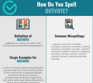 Correct spelling for outvote