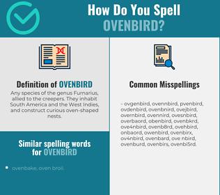 Correct spelling for ovenbird