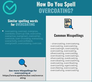 Correct spelling for overcoating