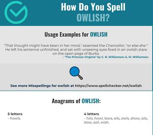 Correct spelling for owlish