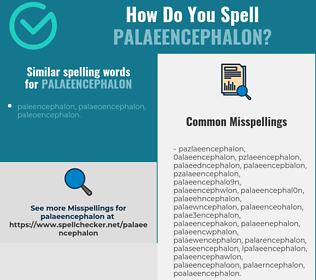 Correct spelling for palaeencephalon