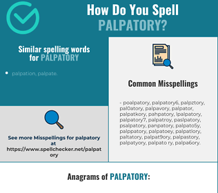 Correct spelling for palpatory