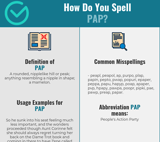 Correct spelling for pap