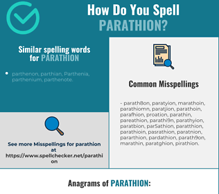 Correct spelling for parathion