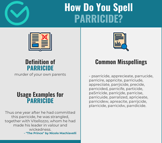 Correct spelling for parricide