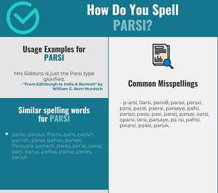 Correct spelling for parsi