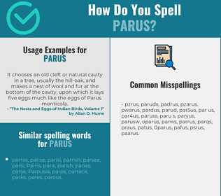 Correct spelling for parus