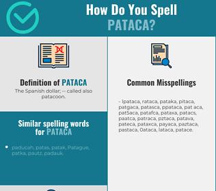 Correct spelling for pataca