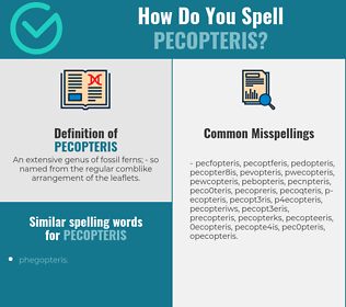 Correct spelling for pecopteris