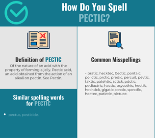 Correct spelling for pectic
