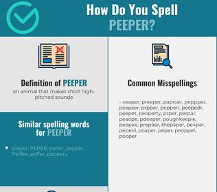 Correct spelling for peeper