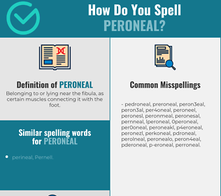 Correct spelling for peroneal