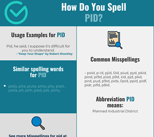 Correct spelling for pid