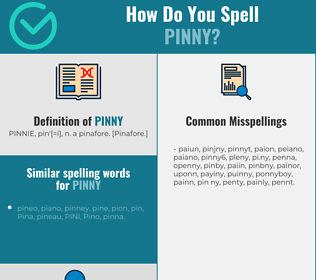 Correct spelling for pinny