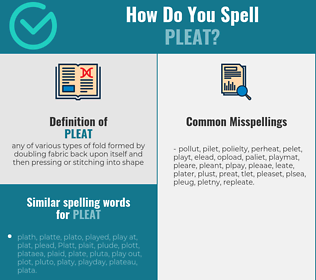 Correct spelling for pleat
