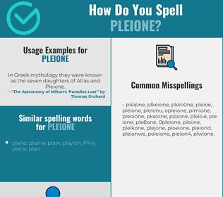 Correct spelling for pleione