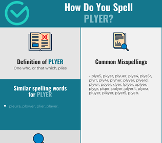 Correct spelling for plyer