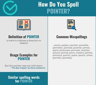 Correct spelling for pointer
