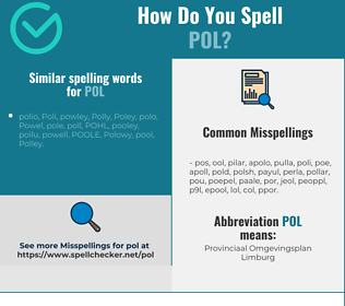 Correct spelling for pol