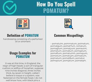 Correct spelling for pomatum