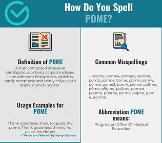 Correct spelling for pome