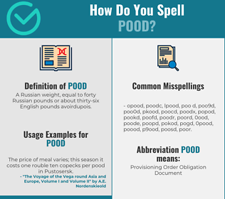 Correct spelling for pood